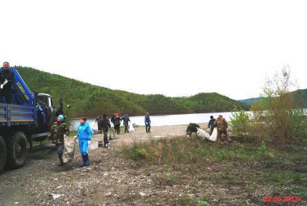 Cубботник по очистке водоохраной зоны  Зейского водохранилища